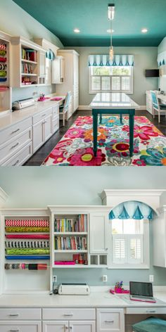 Delightful Craft Room Ideas (Small, Storage, and DIY craft room)craft room ideas Best Craft Room Storage and Organization Furniture Ideas - HomeDeCraftCheap Craft Room Storage Cabinets Shelves Ideas Room Desk TutorialFind out how Craft Room Storage, Craft Room Decor, Craft Room Design, Nursery Decor, Craft Room Organizing, Art Decor, Ikea Craft Room, Sewing Room Design, Sewing Room Decor