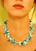 Fashion necklace light turquoises #fb