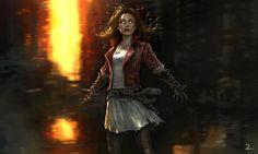 First look at Scarlet Witch #AgeofUltron concept art. #Marvel #AssemblingAUniverse pic.twitter.com/KlSx2rq0pJ