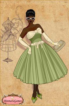 50's Dress - Tiana - #SommerTime #Disney #Princess