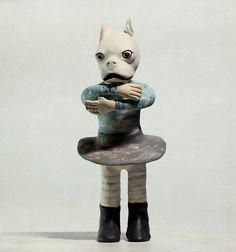 Strange ceramic figures by snailbooty. (Yes, snailbooty.)