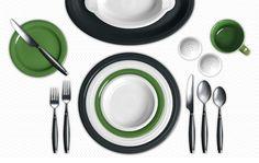 Fiesta Dinnerware Slate, White and Shamrock