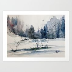 Original colorful print LANDSCAPE original by pinetreeart on Etsy