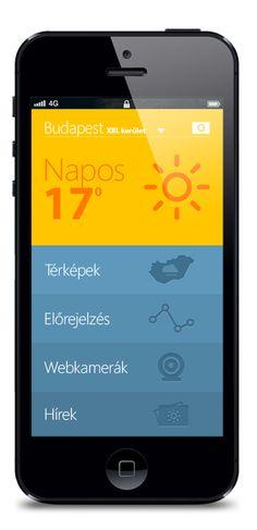 Weather App by Zsolt Baritz, via Behance