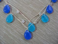 COME SALE AWAY!  SALE  Mandy Lemig Ocean Blue Teardrop NecklaceWas by MandyLemig, $25.00