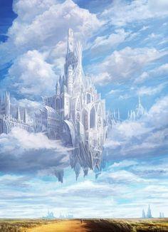 Fantasy City, Fantasy Castle, Fantasy Places, Fantasy World, Dark Fantasy, Fantasy Artwork, Fantasy Concept Art, Fantasy Art Landscapes, Landscape Art