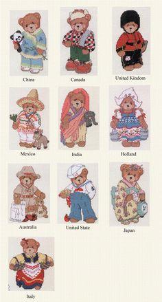 Schematic cross stitch Around The World 2