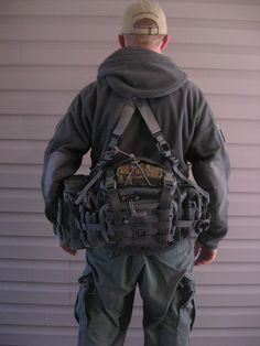 For hunting! Survivalist Bug Out Bag Maxpedition Sabercat the suspenders are HSGI and MM. with a fully loaded pack the suspenders are a big plus. Tactical Bag, Tactical Equipment, Tactical Survival, Survival Gear, Survival Prepping, Survival Fishing, Bushcraft Gear, Hunting Equipment, Camping Survival