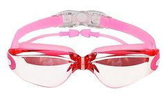 ARRIVE GUIDE Swim Goggles With UV Protection AntiFog Leakproof Shatterproof for Adult Goggles Case Silicone Ear Plugs and Interchangeable Nose Bridge Pink *** Continue to the product at the image link.Note:It is affiliate link to Amazon.