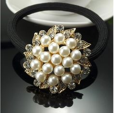 Find More Hair Jewelry Information about 12pcs/lot Crystal Pearl Hair Scrunchy Woman Hair Band Girls Hair accessories, Ponytail Elastic hair holder,High Quality Hair Jewelry from Hair's Art Online Wholesale Store on Aliexpress.com