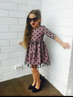 Baby Girl Winter Style Fashion Kids Ideas For 2019 Girls Fancy Dresses, Kids Outfits Girls, Little Dresses, Little Girl Dresses, Nice Dresses, Baby Girl Fashion, Kids Fashion, Style Fashion, Kids Dress Wear