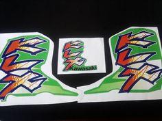 KAWASAKI KLX 650 D1 KLX 650R 1996-1997, KIT FULL DECALS !!!GRAPHICS, stickers, #fan