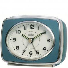 Acctim 13879 Retro 2 Alarm Clock Metallic Blue for sale Modern Alarm Clock, Retro Alarm Clock, Travel Alarm Clock, Alarm Clocks, Home Clock, Desk Clock, Clock Numbers, Small Clock, Retro Bedrooms
