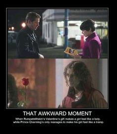 That awkward moment when Rumplestiltskin was more romantic than Prince Charming...