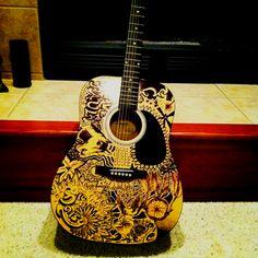 Sharpie guitar art