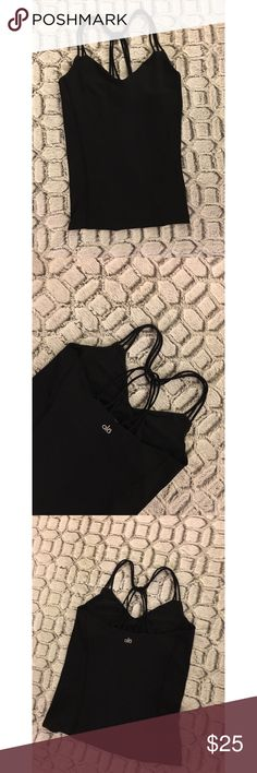ALO Yoga Black Tank - Size M ALO Yoga Black Tank - Size M. Gently used; excellent condition. No rips, tears, or stains. ALO Yoga Tops