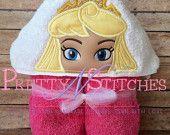 Sleeping Princess Peeker Applique Embroidery Design (5X7 Hoop)