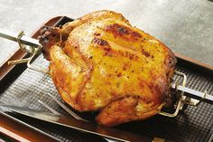 Check out this delicious recipe for Rotisserie Buttermilk Chicken with Apricot Glaze from Weber—the world's number one authority in grilling. Apricot Glaze Recipe, Weber Q Recipes, Buttermilk Chicken, Weber Bbq, Rotisserie Chicken, Poultry, Grilling, Turkey, Yummy Food