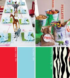 StudioDIY // Hue It Yourself: Red, Green   Zebra Safari Party