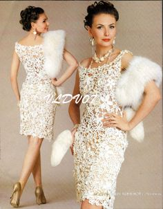 CROCHET FASHION... JUST FOR YOU !: A BEAUTIFUL WHITE DRESS STYLE... from the net