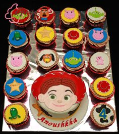 Jessie Cake and Toystory cupcakes
