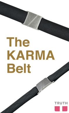 This belt is perfect for everyone! The Karma belt features a flat nickel-free buckle and super-stretchy adjustable elastic. $28.00 www.truthbelts.com