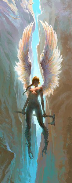 ArtStation - Gorge of Innocence, or Сall me Seraphima, Alexandre Mokhov
