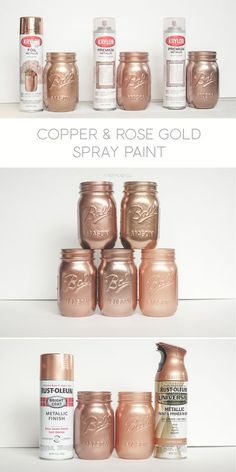Krylon White Copper, Dusty Pink and Foil Metallic Copper. Rust-oleum Too!