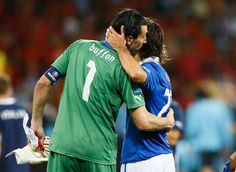 <3 Buffon and Pirlo - the living legends <3