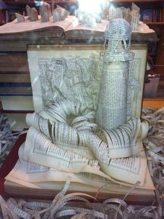 book sculpture lighthouse - Google Search