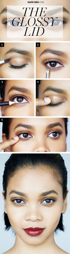 Makeup How To Wet Eyeshadow - How to Get a Glossy Wet Eye Lid - Marie Claire