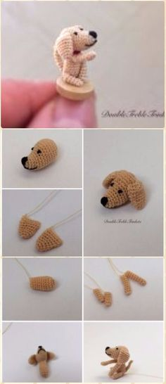 Crochet Amigurumi Mini Dog Free Pattern - Amigurumi Puppy Dog Stuffed Toy Patterns