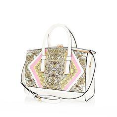 Pink printed frame bag 55,00 €