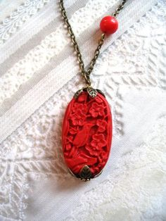 Red carved cinnabar elegance