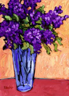 Lilacs in a Blue Glass - Patty Baker