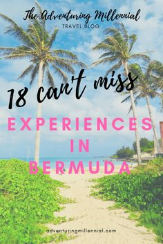 Planning a trip to Bermuda? Don't miss these 18 experiences! From swimming at Blue Hole to drinking a Rum Swizzle there are so many ways to relax on this island. Cruise Excursions, Cruise Destinations, Shore Excursions, Bermuda Vacations, Bermuda Travel, Bermuda Island, Cruise Tips Royal Caribbean, Best Resorts, Beautiful Places To Visit