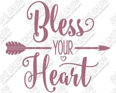 Bless Your Heart Southern Vinyl Shirt Decal Cutting File in SVG, EPS, DXF, JPEG, and PNG Format