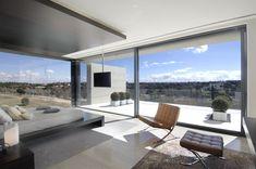 modern architecture - a-cero - 19 housing - somosaguas - madrid - spain - interior view - bedroom