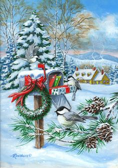 Christmas Mail Painting  - Christmas Mail Fine Art Print