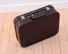 valise noire vintage