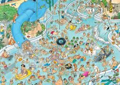 Jumbo Whacky Water World Jan van Haasteren 1500 Piece Comic Jigsaw Puzzle Writing Pictures, Picture Writing Prompts, Cartoon Puzzle, Cartoon Art, Mind Puzzles, Jigsaw Puzzles, B Image, Puzzle Art, Detail Art