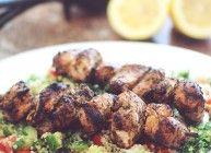 Mediterranean Chicken Kabobs with Quinoa Tabbouleh