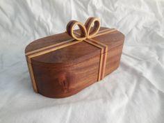 Gift box: box - Sapele; ribbon - Yellow heart and Bloodwood