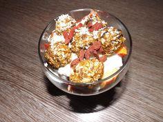 Apricot and Lemon Rawnola Bites   akafitactivewear Acai Bowl, Cereal, Lemon, Healthy Eating, Breakfast, Recipes, Food, Acai Berry Bowl, Eating Healthy