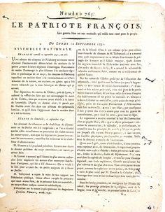 Le Patriote Français par Samantha et Emma