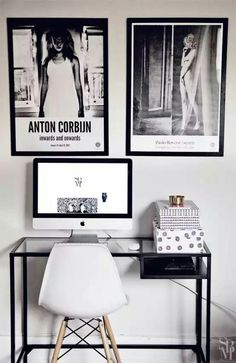 Minimalistic - b&w work space. Are you looking for unique and beautiful art photo prints (not the ones featured in this pin) to create your gallery wall? Visit bx3foto.etsy.com and follow us on Instagram @bx3foto
