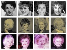 As young girls, the Golden Girls, and their later years. Ah, didn't they all age gracefully and beautifully? Golden Girls Quotes, Girl Quotes, Female Stars, Aging Gracefully, These Girls, Good Movies, Movies And Tv Shows, Favorite Tv Shows, My Girl