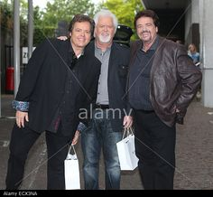 The Legendary Osmond Brothers Jimmy, Jay And Merrill Outside Itv Stock Photo, Picture And Royalty Free Image. Pic. 76791046