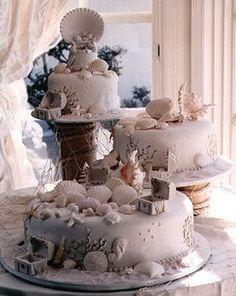 Wedding, Cake, Beach, Cinderella cakes - Photo by Cinderella Cakes