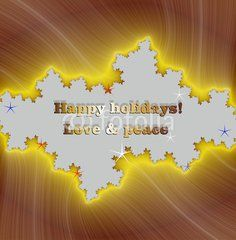 Happy holidays wishes on golden frame